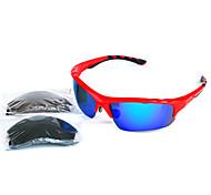 [Free Replacement Lenses] Anti-Fog Rectangle PC Sports Sunglasses