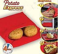 новый высококачественный практическая быстро легко красный картофель стирать микроволновая мешок пара карман испечь картофель в 4 минут