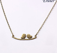 Eruner®Restoring Ancient Ways Branches Birds Alloy Necklace