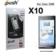 hohe Transparenz matte LCD Screen Protector für Sony s39h (10 Stück)