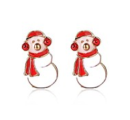 Christmas Gift Cute Snowman Earring