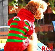Cani Maglioni-Inverno-Natale Natale-Rosso- diLanetta