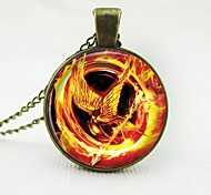 European Fashion Classic Copper Time Gem Necklace The Hunger Games Mockingjay 01
