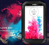 LOVE MEI Shockproof Dirtproof Snowproof  Aluminum Alloy and Silicone Back Case for LG G3