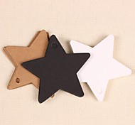 Kraft Paper Star Hang Tags Lables for Bookmark Gift Bakery Packaging Favors Wedding Party Price Cards(Set of 50)
