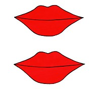 DIY Series Sexy Lips Pattern Design PVC Decoration Sticker for Car and Others