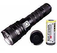 Warsun ET26 Rechargeable 2-Mode 1xCree 5W LED Flashlight (350LM,1x18650,Black)