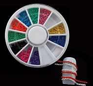 12Colors Chain DIY Nail Wheel Set Nail Art Decoration