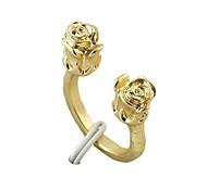 2014 Cheap Wholesale Rose Shape Open Women Flower Ring