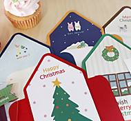 Lovely Stripe Style Christmas Card(5PCS)
