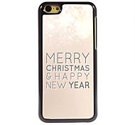 allegra caso duro di alluminio nuovo anno modello natale e felice per iphone 5 quater