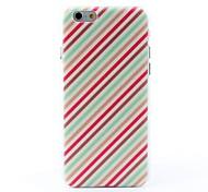 lignes colorées grains de litchi de style affaire difficile pour iPhone 6