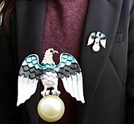 2014 nova vinda águia com imitação de pérolas broche atacado
