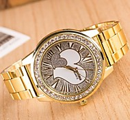Women's Fashion Circular Love Alloy  Quartz  Watch(Assorted Colors)