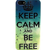 Green Letter Pattern TPU Soft Back Cover for iPhone 5/5S