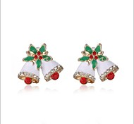 Christmas Gift Colorful Snow Bells Earring