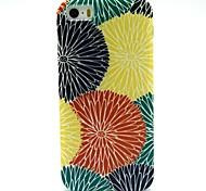 patrón de la flor del sol de la PU cuero caso de cuerpo completo con ranura para tarjetas y soporte para el iPhone 5 / 5s