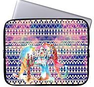 "Elonbo Tribal Stripe and Castle Elephant 15"" Laptop Waterproof Sleeve Case for Macbook Pro Retina Dell HP Acer"