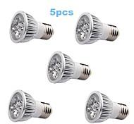 5W E26/E27 Spot LED / Projecteurs PAR MR16 1 LED Haute Puissance 350-400 lm Blanc Chaud AC 85-265 V 5 pièces