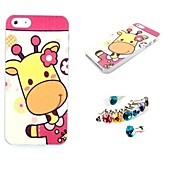 Giraffe Bulk of The  Pattern PC Leather Back Cover Case for iPhone 5/5S