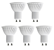 5 pcs H+LUX™ GU10 5 W 40 SMD 3014 350 LM Warm White MR16 Spot Lights AC 220-240 V