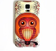 The Owl Pattern TPU Back Cover for S5 I9600
