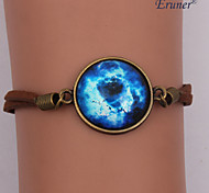 Handmade Fashion Women's Pretty Galaxy Cosmic Moon Bracelets