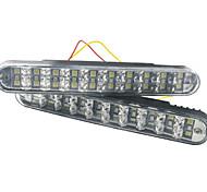 Carking™ 30 LED Car DRL Daytime Running Light with Turn Lights-White/Yellow Light(2PCS)