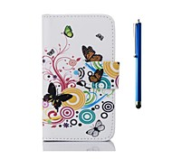 4 Inch Printing Series PU Leather Case and Pen with Stand for Nokia X