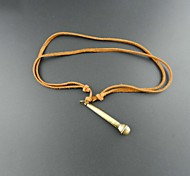 Корея Стиль литературный Майк кожа pandant ожерелье (1шт)