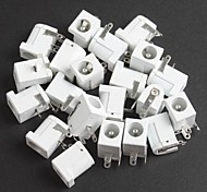 Power Jack Power Outlet, White DC-005,5.5-2.1MM Socket (10Pcs)
