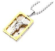 иисус толщиной цинкового сплава золотое ожерелье кулон прямоугольной формы