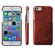 Vintage Fashion PU Leather Case Cover with Card Holders for iPhone 6 (Assorted Colors)
