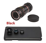 8X Telephoto Lens / Fisheye Lens/ Wide Angle & Macro Lens Kit with Back Case for Samsung Galaxy Note 4(Assorted Color)