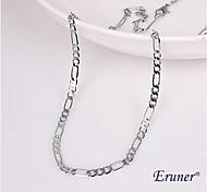 Eruner®Unisex 4MM Silver Chain Necklace NO.105