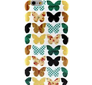 Butterfly Pattern TPU Soft Back Cover for iPhone 6