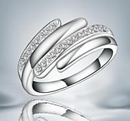 Mode weißen Zirkon Silber Aussage Ring für Hochzeit für Frauen (1 PC)