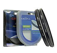 Adapter Ring for Panasonic FZ200 67MM Metal Tube and Ring Green UV Lens Hood Lens Cap Set