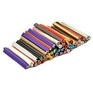 Motif de Sanimal 50pc autocollant tige de canne bâton 3d mixs ongles de couleur décoration d'art