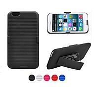 Ribbed Texture Shell And With Fixed Ratching Belt Clip Belt Clip Holster for iPhone 6(Assorted colors)