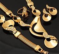 chapado en oro 18k u7® traje de Austria de la joyería de diamantes de imitación