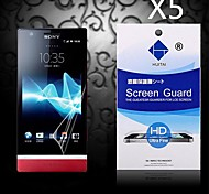 HD Screen Protector with Dust-Absorber for Sony LT22i (5 PCS)