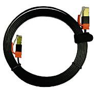1m cabo de rede 3,28 pé cat7 cabo de conexão de rede de fibra óptica blindagem plano de ouro de placa de alta velocidade