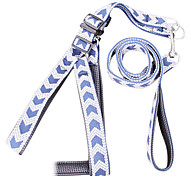 Nylon Solid Harness with Leashes for Pets Dogs