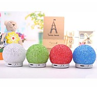 Mini Crystal Snowball Design Wireless Bluetooth Speaker with LED Light & TF Card Reader