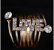 Love Is Your LOVE Spring Gold Band Ring