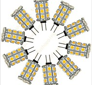 Dekorativ Bi-Pin-Lampen G4 2.5 W 352 LM K 27 SMD 5050 Warmes Weiß/Kühles Weiß DC 12 V