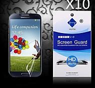 Protector de pantalla de alta definición con polvo absorbente para samsung i9500 galaxy s4 (10 piezas)