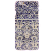 Elegant Blue Flower Design Hard Case for iPhone 6 Plus