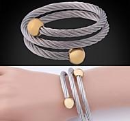u7® 18k de aço inoxidável banhado a ouro verdadeiro 2 cores banhado bracelete